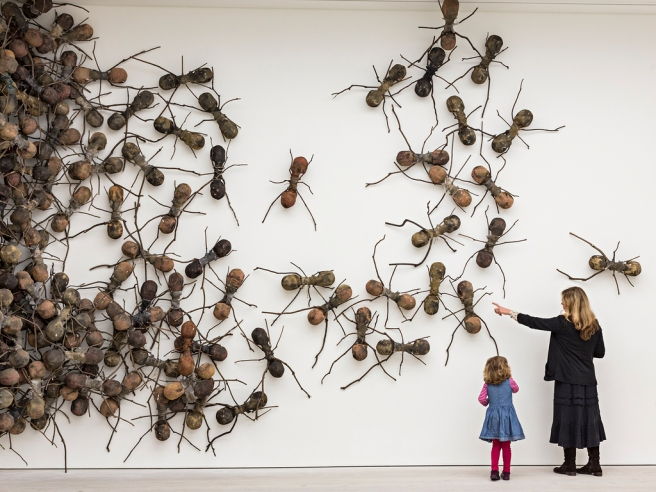 Artist Rafael Gomezbarros's 440 fibreglass ants, each 90cm long, take over part of the Saatchi Galle